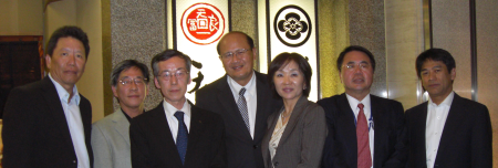 Dr. Naris Chaiyasoot (center) and members of the EWCA Tokyo Chapter