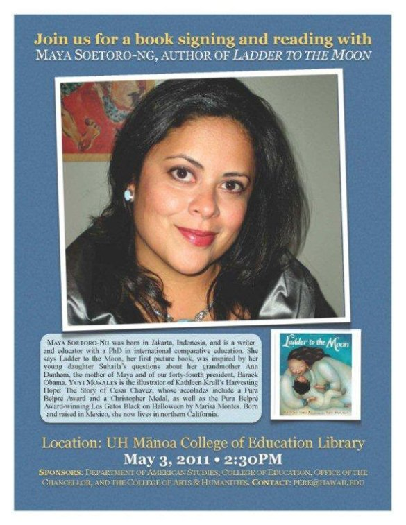 maya soetoro-ng book signing