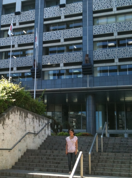 Naomi Leipold In front of Okinawa State Hall 2