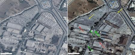 An analysis of high-resolution satellite images of Aleppo, Syria, appears to reveal the deployment of heavy armored vehicles in civilian neighborhoods as well 117 instances of damage to buildings and infrastructure. Source: American Association for the Advancement of Science.