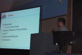 Ehsan Yavari presenting at the IEEE International Microwave Symposium