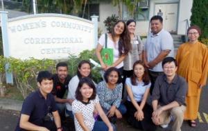EWC leadership students visit the women's prison on O'ahu
