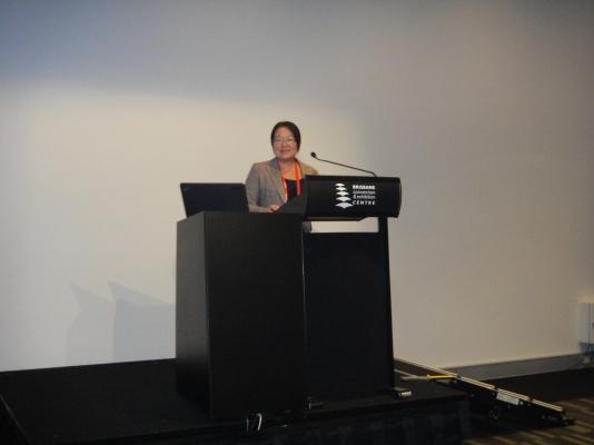 Junko Imai presenting at AILA 2014 in Brisbane Australia