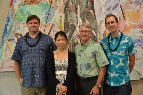 L to R:  Matthew Kelty (USA), Yi-Chieh Lai (Taiwan), Ned Shultz (EWCA President), Alex Holowicki (USA)