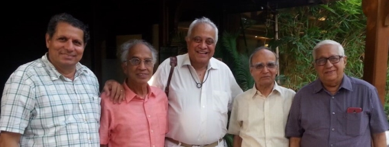 From left to right: Sarosh Bana, Shiv Kakodkar, Roger Pereira, Bishamber Makhija, and Sharad Upasani.