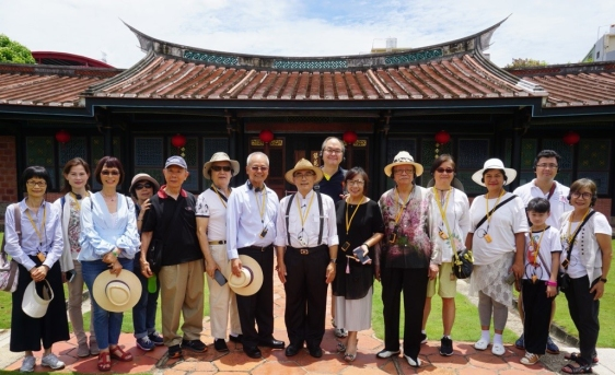 EWCA Taiwan Chapter members visited the Wufeng Lin Family Garden of the Gong Bao Di Park in central Taiwan on July 6, 2018.