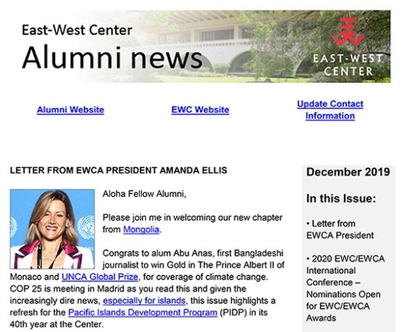 East-West Center Alumni News